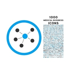 Connections Rounded Icon with 1000 Bonus Icons vector image