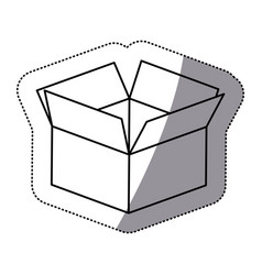 contour box opened icon vector image