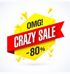 Crazy sale poster vector