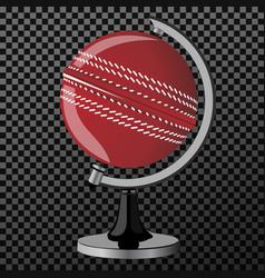 criket criket globe isolated over vector image