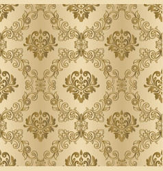 damask vintage seamless background pattern vector image