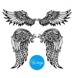 Decorative Wings Set vector image
