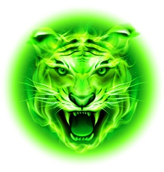 Fair tiger W Green 01 vector