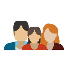 Family avatar profile vector