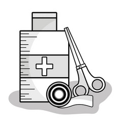 First aid kit to healthcare people vector