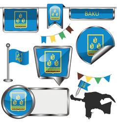 Flag baku vector