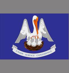 flag of louisiana usa vector image