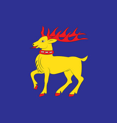 Flag of oland is the second largest swedish island vector