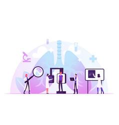 fluorographic examination in pulmonology vector image