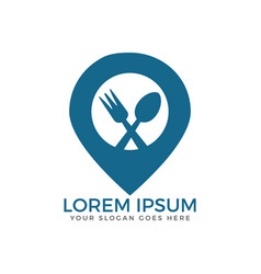 Food point logo design vector