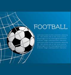 Football ball poster of soccer championship vector