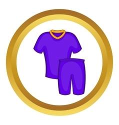 Football uniforms icon vector