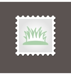 Grass stamp Outline vector