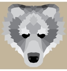 Gray low poly bear vector image