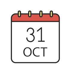 Halloween date color icon vector