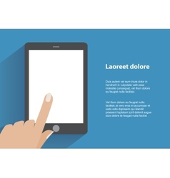 Hand holding smartphone with blank screen vector
