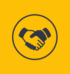Handshake partnership deal icon vector