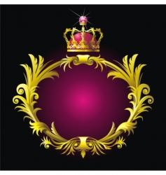 heraldry shield vector image