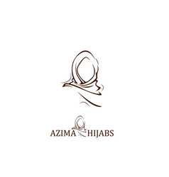 Hijab logo and icon design with a minimalist cloth vector
