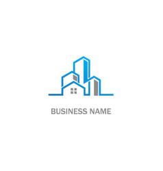 Home modern building realty company logo vector