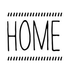 home stamp on white vector image
