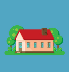 house flat style vector image
