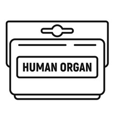 human organ pack icon outline style vector image
