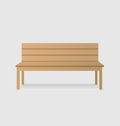 isolated wooden bench vector image