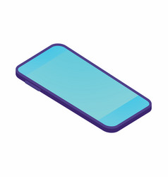 isometric smartphone template on white vector image