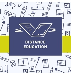 Logo of distance education courses Education on vector