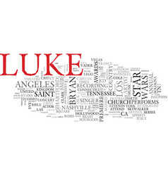 Luke word cloud concept vector