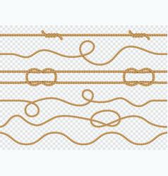 Marine rope seamless pattern nautical knot vector