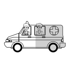 medical ambulance icon vector image