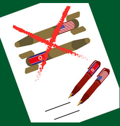 north korean and american atomic bombs document vector image