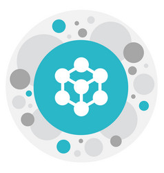 of science symbol on atom icon vector image