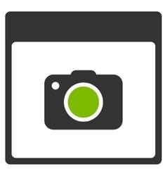 Photo Camera Calendar Page Flat Icon vector image
