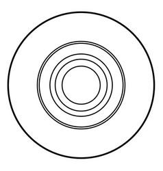 Radio signal symbol connect icon black color in vector