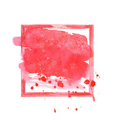 Red watercolor grunge frame vector