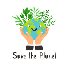 save planet banner vector image