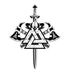 skull sword 2021 0004 vector image