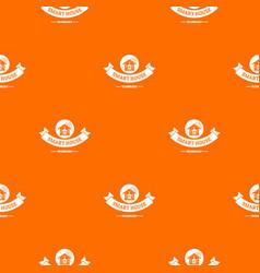 smart monitoring pattern orange vector image