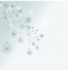 snowflake tree vector image