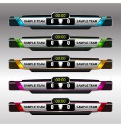 Soccer and football scoreboard template vector