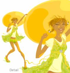 sunny day sunny girl vector image