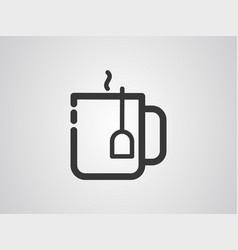 tea icon sign symbol vector image