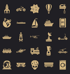 Technol icons set simple style vector