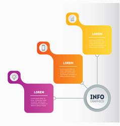 template for web design brochure or diagram vector image