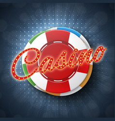 Top view of casino chips vector