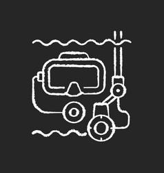 underwater inspection chalk white icon on black vector image