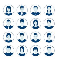 User account avatar portrait icon set vector